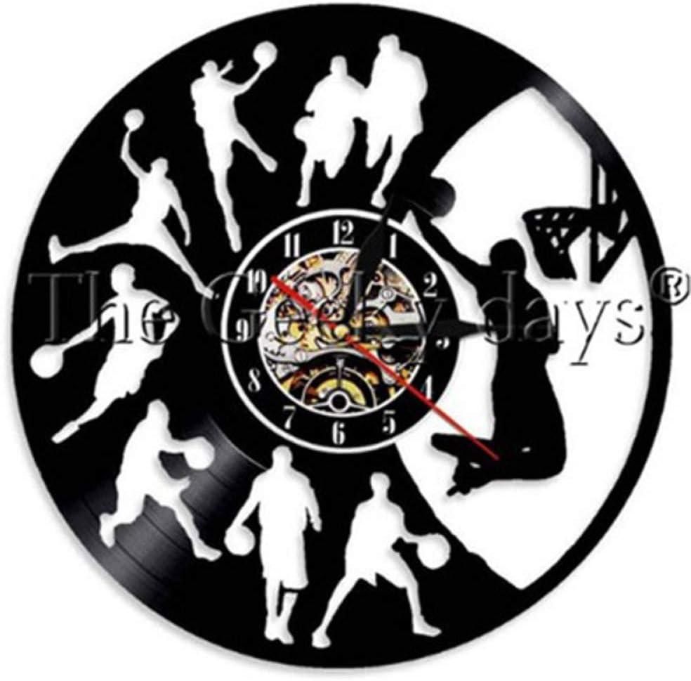 CVG Basketball Vintage Vinyl Record Reloj de Pared Basketball Jump ...