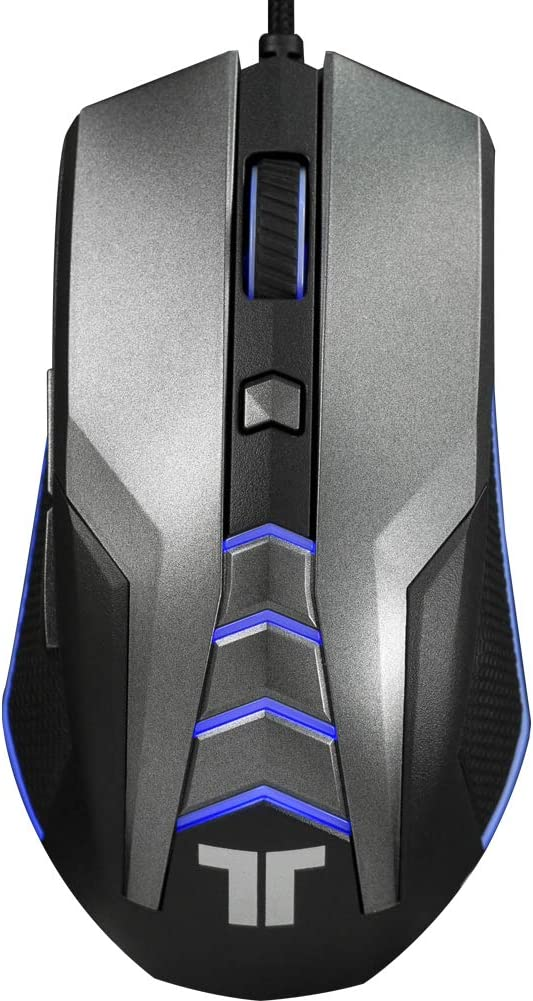 TRITTON 5000DPI Wired Gaming Mouse with RGB LED Breathing Light, 4 Levels DPI Adjustment Ergonomic Gaming Mice for PC, Mac, Laptop