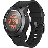 ANCOOL for Garmin Fenix 2 Band 26mm Replacement Silicone Smart Watch Band Compatible with Fenix 2 Watch (Black)