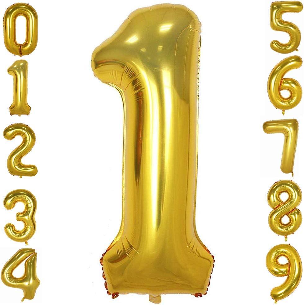Tellpet Gold Number 1 Balloon, 40 Inch