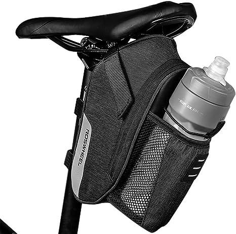 Roswheel Bolsa de Bicicleta, Bolso para Sillín Alforjas Tija Sillín de Ciclismo Impermeable de Montar del Asiento de la Bicicleta del el Paquete Plegable de la Cola ...