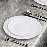 Kaya Collection flrwht107144 Disposable Dinnerware
