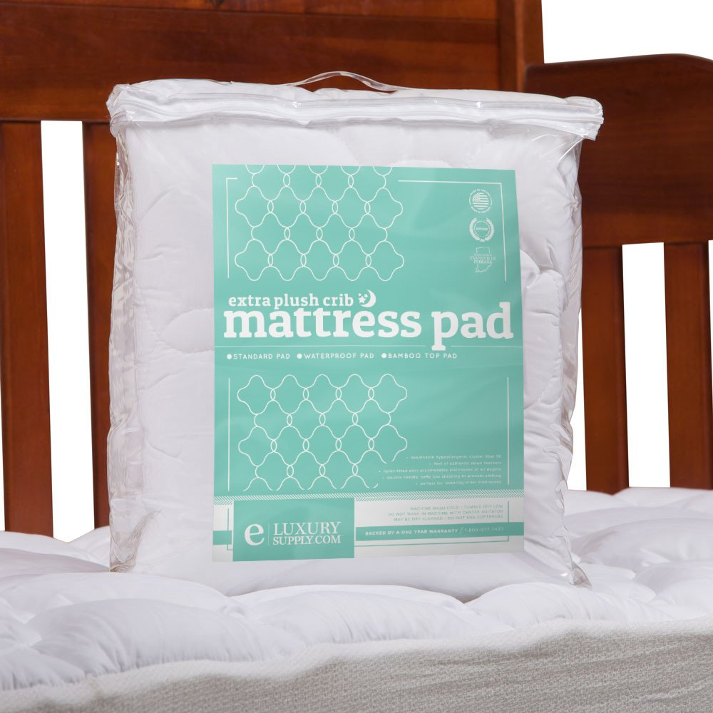 ExceptionalSheets Toddler/Crib Size Mattress Pad - Perfect for Small Child/Infant - Cooling Topper by ExceptionalSheets
