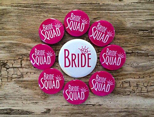 Bride Squad Bachelorette Party Button product image