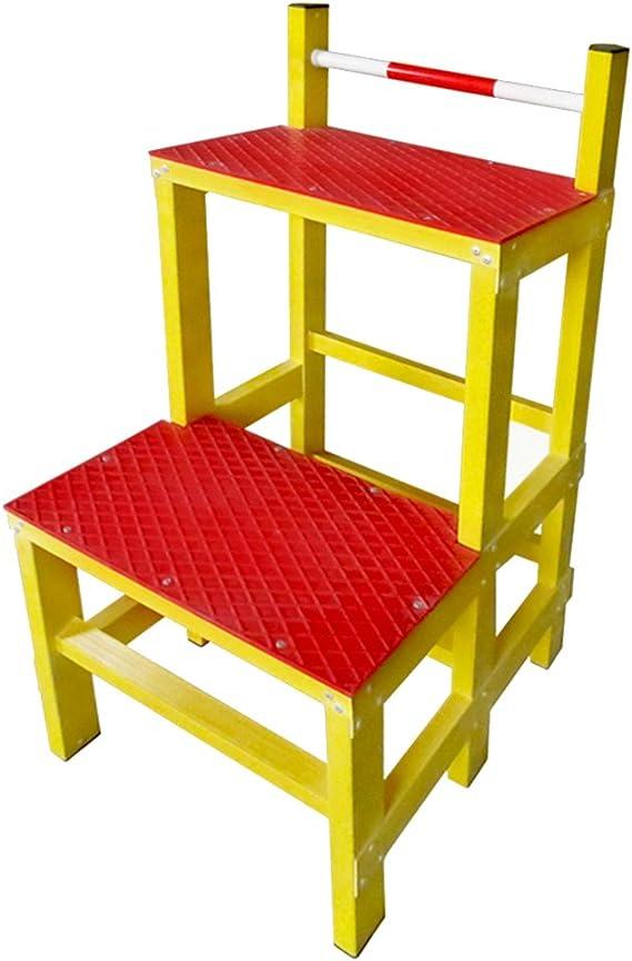 Taburete Aislamiento Escalera multifunción Taburete Escaleras Taburete alto Almacén Tomar escabel Taburete Supermercado Ascend Aislamiento, plástico reforzado con fibra de vidrio, 2 pasos Rojo Escaler: Amazon.es: Electrónica