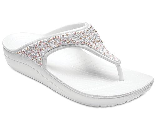 ecab2710c1ad crocs Sloane Embellished Flip Flops  Amazon.in  Shoes   Handbags