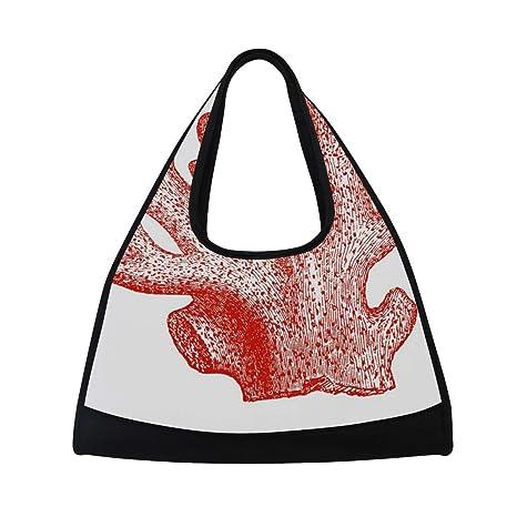 872447fc2046 Amazon.com : HUVATT Sports Bag Coral Specimens Red Mens Duffle ...