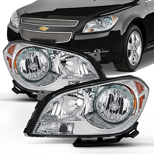For 2008 2009 2011 2012 Chevy Malibu Driver & Passenger Both Side Headlights Headlamps Assembly