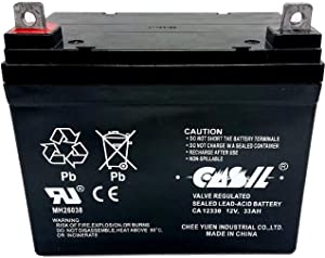 Lawn Tractor Mower Battery SLA AGM Deep Cycle Replacement Battery for John Deere, Craftsman, Husqvarna, Troy-Bilt, Huskee, Cub Cadet and More 12v 33ah by Casil