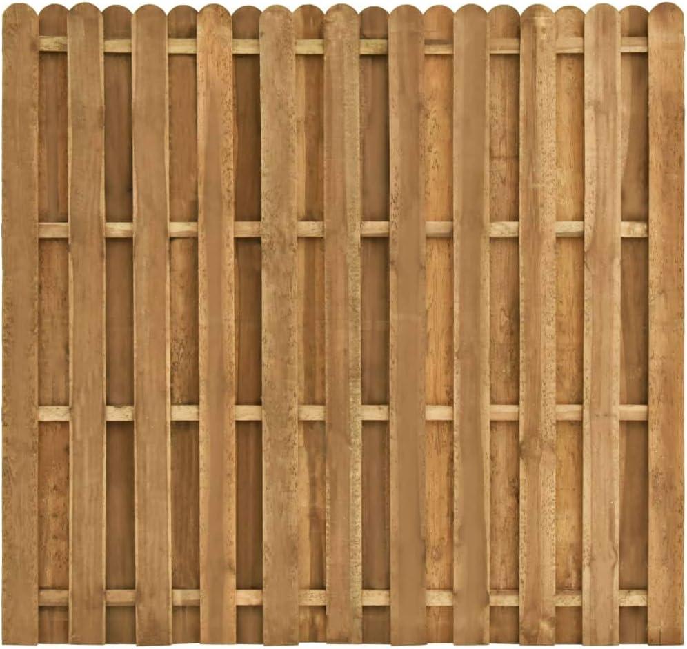 vidaXL Madera de Pino Panel de Valla de Jardín Cercados Paneles Bordo Valla Estacas para Patio Delantero Frontera de Listones Adaptable 180x170cm