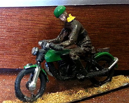 - Langley Models Early Motorcycle + Rider OO Scale UNPAINTED Metal Model Kit G12
