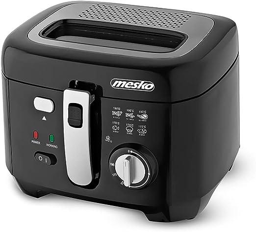 mesko MS-4908 Freidora de Aceite 2,5 Litros, 1800W, Antiadherente, Libre de BPA, 2.5 litros, 0 Decibelios, Plastic, Negro: Amazon.es: Hogar