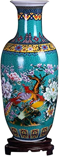 ufengke Jingdezhen Large Ceramic Floor Vase,Flower Vase Handmade Home Decorative Vase,Height 18.11 46cm ,Blue