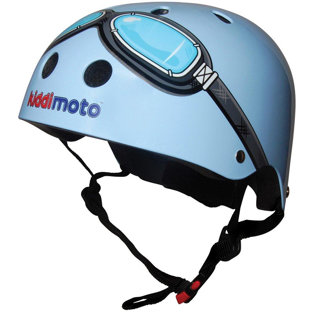 kiddimoto 2kmh007s - Design Sport Helm Goggle, Pilot S für Kopfumfang 48-53 cm, 2-5 Jahre, blau KMH 007/S Helmet7_blau-2-5years