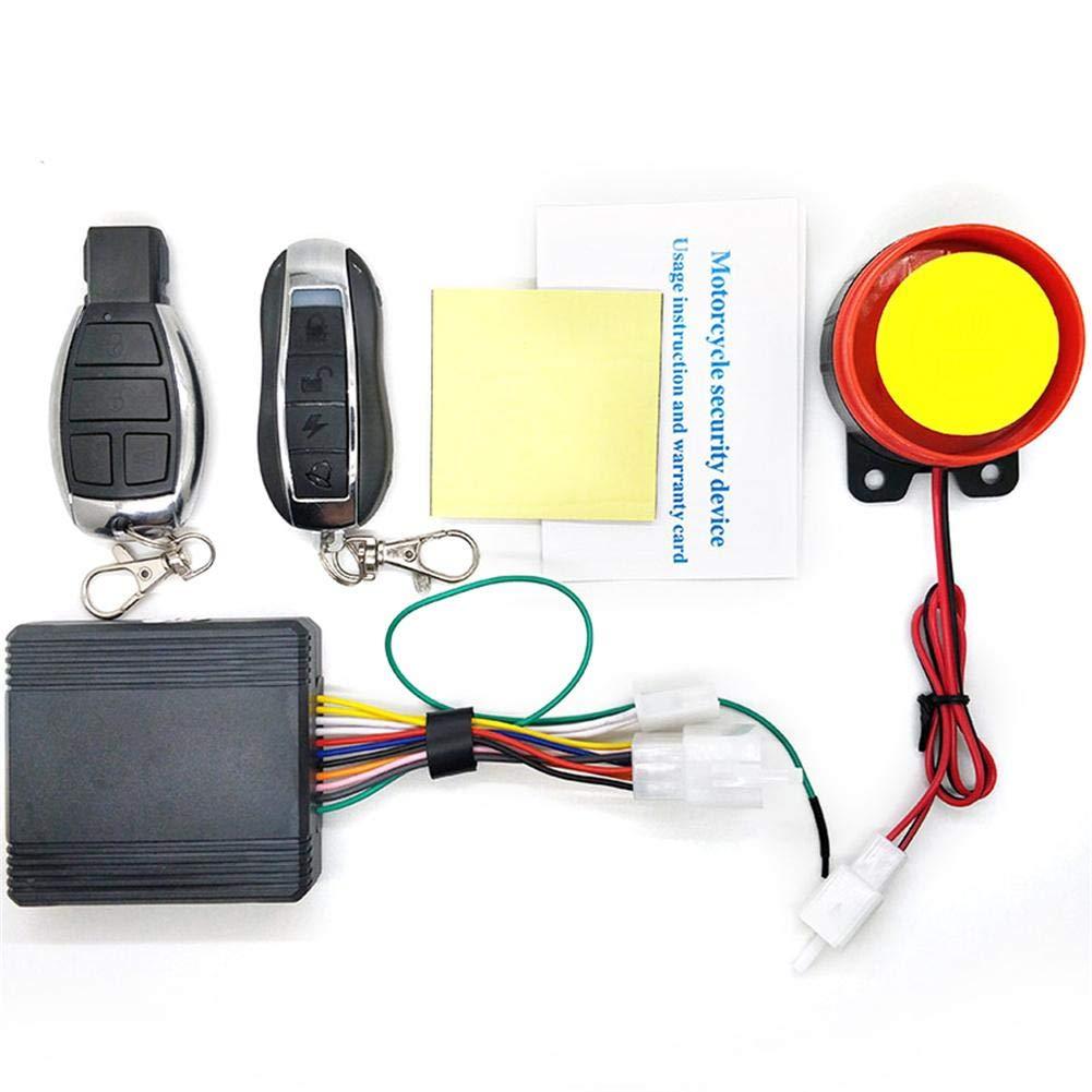 Auto Alarm System 12 V Universal Motorrad Alarmanlage Doppel Fernbedienung CA