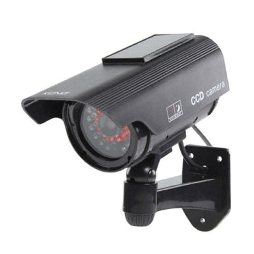 Etopars Solar Power Black Fake Dummy Security CCTV Camera Waterproof IR LED Outdoor Indoor Surveillance by Etopars