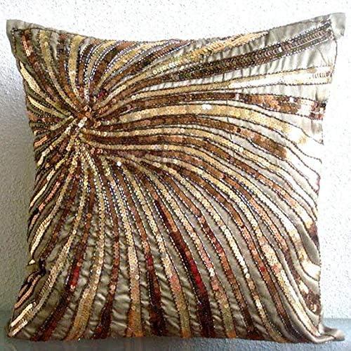 Amazon.com: Funda de almohada hecha a mano de color marrón ...