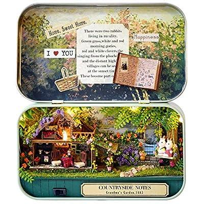 K&A Company Cuteroom Old Times Trilogy DIY Box Theatre Dollhouse Miniature Tin Box with LED Decor Gift, 1