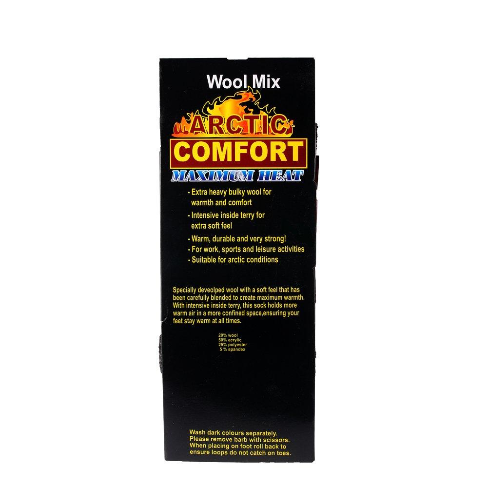 Arctic Comfort ® - Juego de calcetines térmicos para hombre (lana, tallas 39-45, 4 pares): Amazon.es: Ropa y accesorios