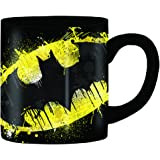 Silver Buffalo DC Comics Batman Splatter Paint Logo Jumbo Ceramic, 14 Oz Mug, 14-ounces, Multicolor