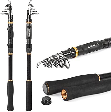 CAPACI Fishing Rod and Reel Combos 24 Ton Carbon Fiber