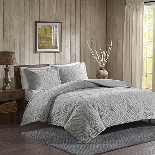 Woolrich Teton King/Cal King Size Quilt Bedding Set - Grey, Embroidered - 3 Piece Bedding Quilt Coverlets - Ultra Soft Microfiber Bed Quilts Quilted Coverlet