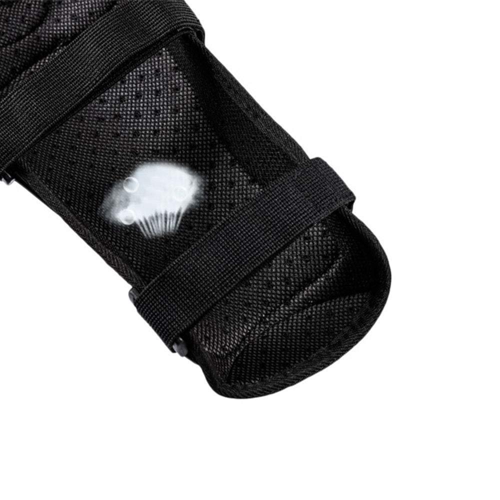 hochfestes Metall komfortabel und atmungsaktiv LXB Offroad-Kniesch/ützer und Ellbogen aus rostfreiem Stahl f/ür Outdoor-Sportarten geeignet.