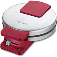 Cuisinart WMR-CAR Classic Round Waffle Maker (Stainless Steel/Red)