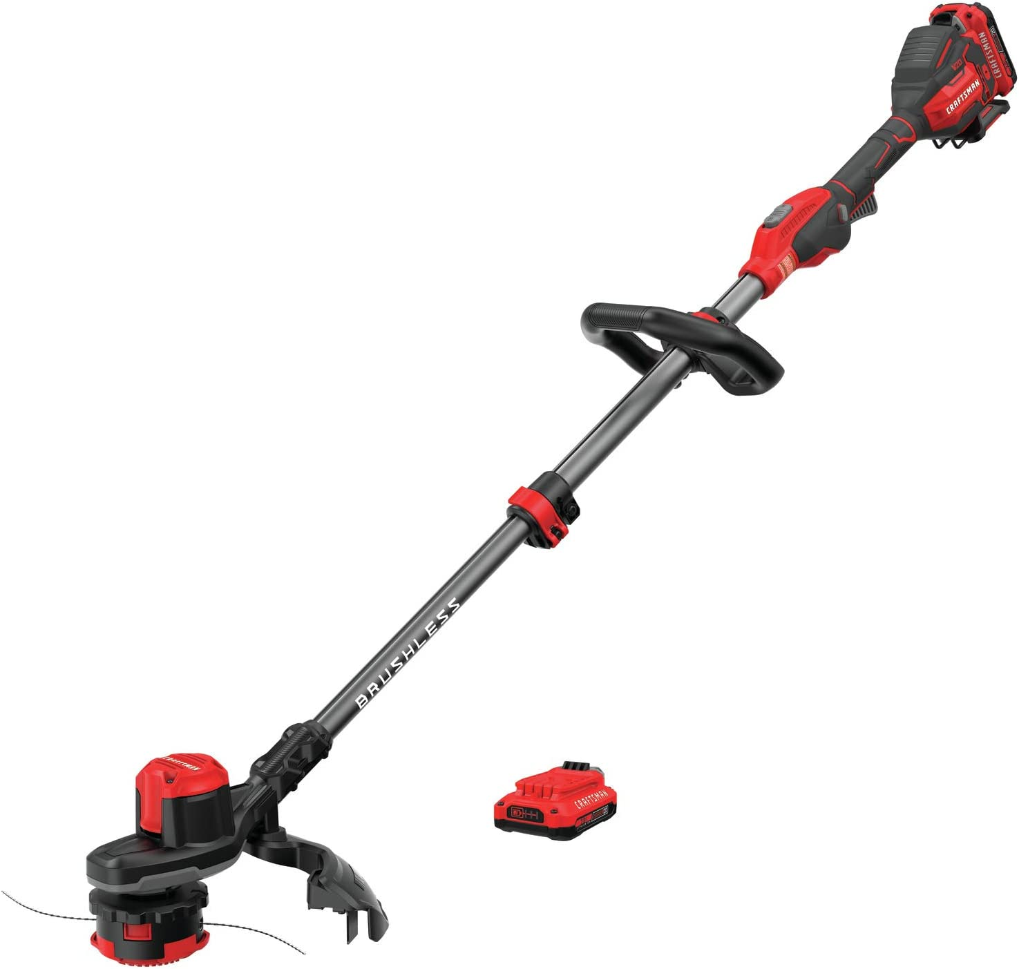 Amazon Com Craftsman V20 Weedwacker Cordless String Trimmer With Quickwind 13 Inch Cmcst920d2 Garden Outdoor