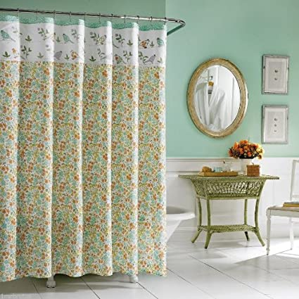 Laura Ashley Birds Branches Floral Shower Curtain