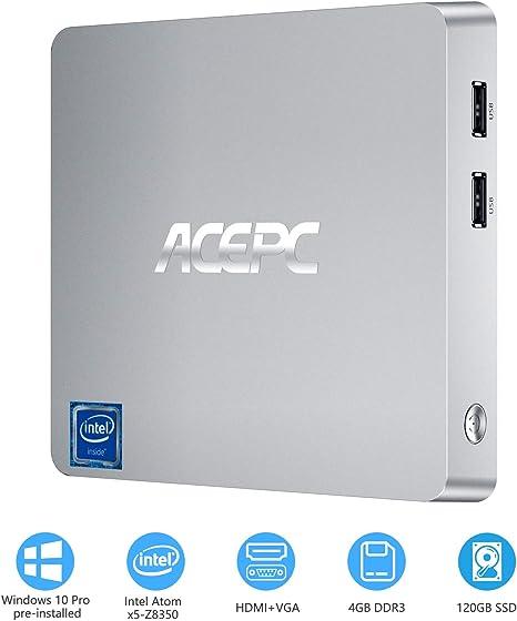 T11 - Mini Ordenador (Memoria RAM de 4 GB, Disco Duro SSD de 120 ...