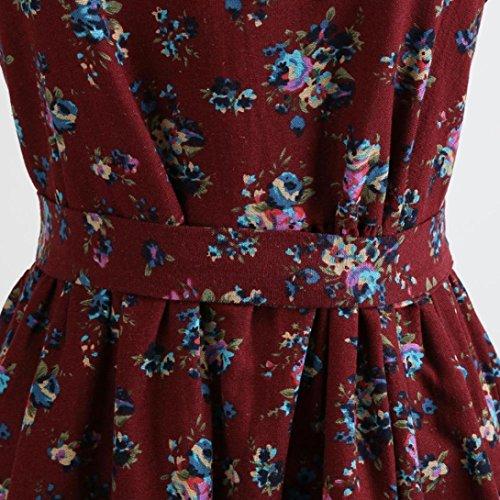 Audrey 36 Annes Classique Style 1950s Cou Robe Mode Femmes A Guesspower Cocktail Vintage Partie Ruch Soire de Rouge 44 Slim S XXL Moulante Impression Chic Jupe Cocktail Cocktail Femme V Hepburn' z0xxwp7qv