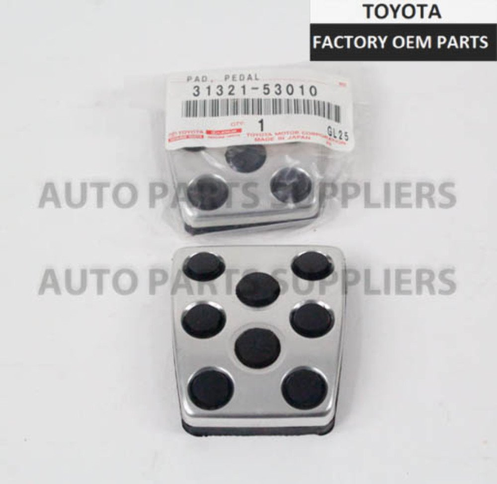 Toyota Genuine Lexus Manual Trans Aluminum Clutch Brake Pedal X2 OEM 31321-53010