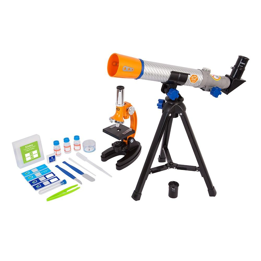 Discovery 40mm Telescope and 900x Microscope Combo Set with Carry Case 44-41101