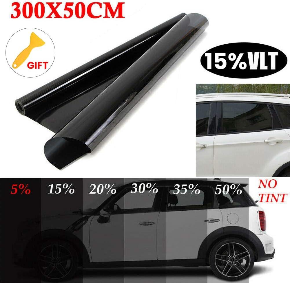 DD-BOMG Ungeschnittener Roll-T/önungsfilm 20/% VLT 10ft Feet Car Home Office Glass