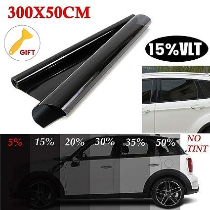 "Uncut Roll Window Tint Film 5/% VLT 24/"" In x 15/' Ft Feet Car Home Office Glass"