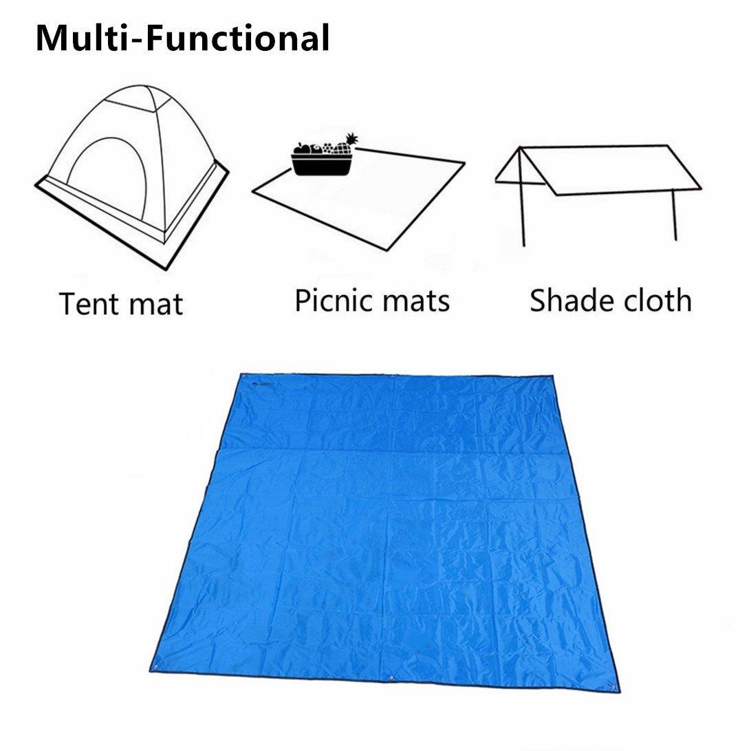 Winis 85x85 Waterproof Tarps Picnic Blanket Mat Camping Moisture Barrier Outdoor Mutifunctional Tent Tarp Footprint Ground Sheet Mat with Drawstring Carrying Bag