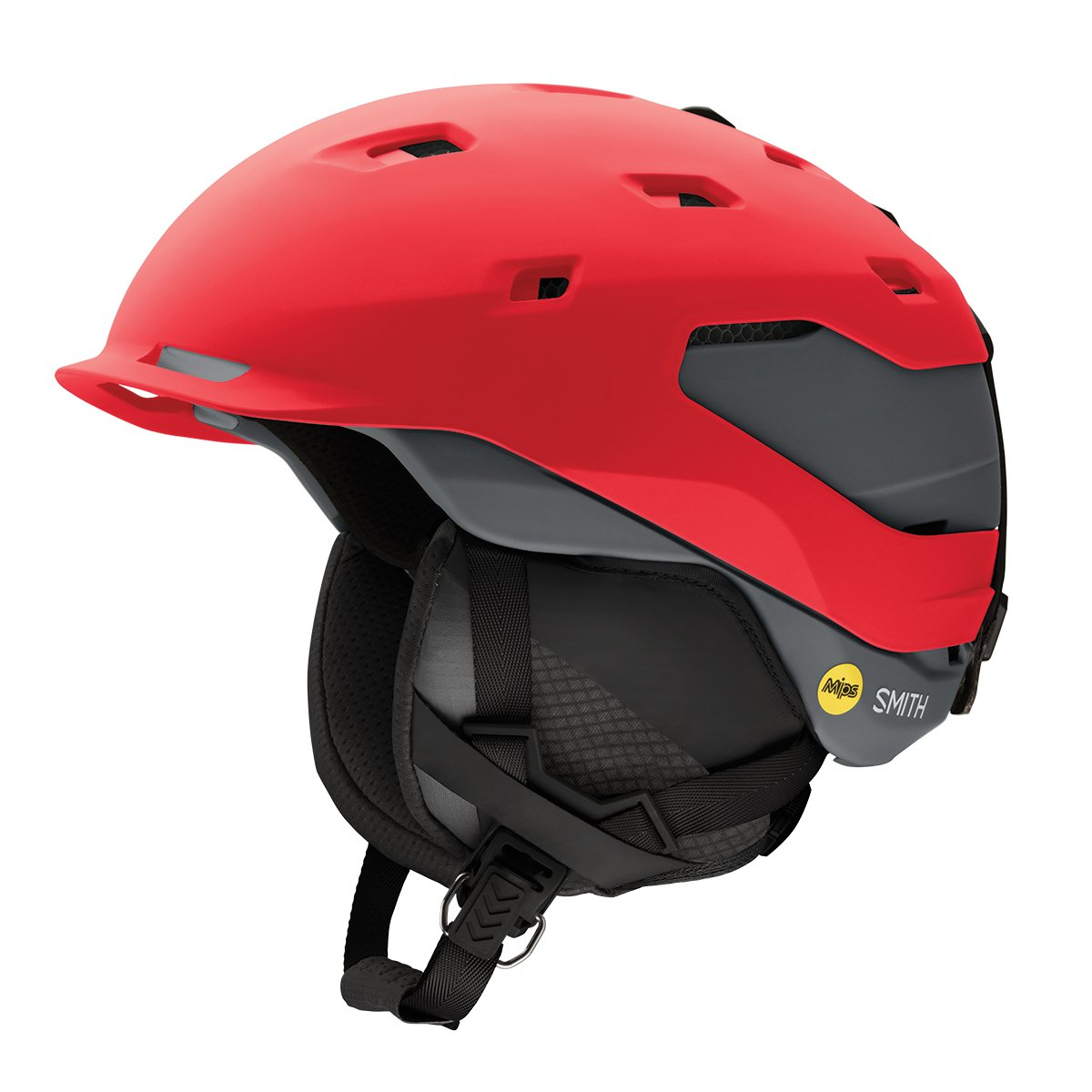 Smith Quantum Mips Snow Helmet - Matte Fire / Charcoal (Medium) by Smith Optics