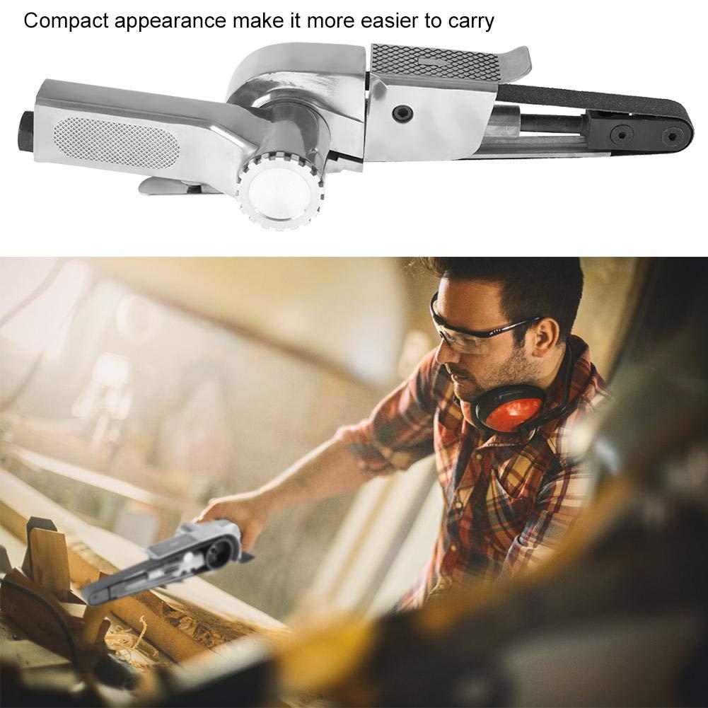 10 * 330mm Pneumatisches Polierwerkzeug f/ür industrielle Druckluft Bandschleifer mit Einlassanschluss und Inbusschl/üssel 16000 U//min