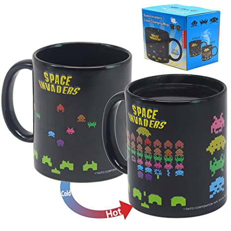 Sensitive Porcelain Cup Home Mug Color Tea Space Changing Invaders Funny Novelty Ceramic Coffee Mugs Heat Creative Magic LqMVSzUGp