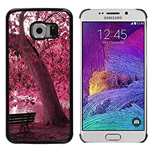 LauStart ( Red Forrest Park ) Samsung Galaxy S6 EDGE (NOT S6) Arte & dise?o pl¨¢stico duro Fundas Cover Cubre Hard Case Cover para