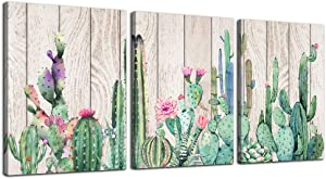bathroom Wall Decor for bedroom Canvas Wall Art for living room kitchen artwork green plant Cactus Wood grain flowers painting 12