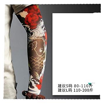 XIUtao Manga de Tatuaje Manga de Hielo Manga de Hombre Flor de ...