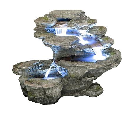 Cascata Da Giardino Moderna : Fiume salto ogen livelli di acqua con luci a cascata amazon