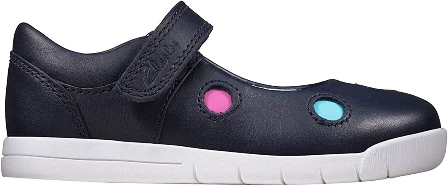 Clarks Dot Rose Gold Lace Up Comfort Casual Girls Kids Shoes