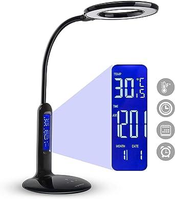 Aigostar Flexo 10KZO - Lámpara de escritorio LED 7W, Pantalla LCD ...