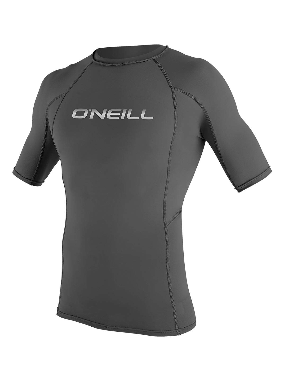 O'Neill Men's Basic Skins Short Sleeve Rashguard M Graphite (3341IB) by O'Neill Wetsuits