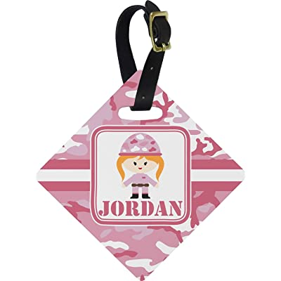 Pink Camo Diamond Luggage Tag (Personalized)