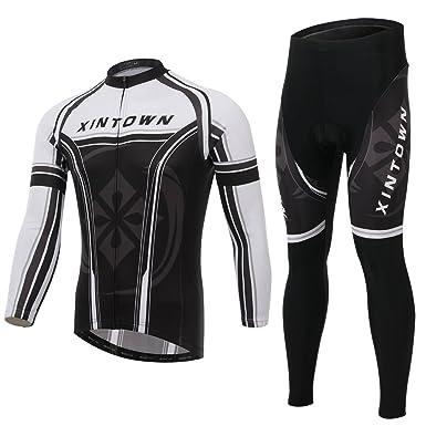 Ophelia Outdoor Black and Red Long Sleeve Fleeced   Fleece Winter Cycling  Bike Bicycle Jersey + 22156eb60