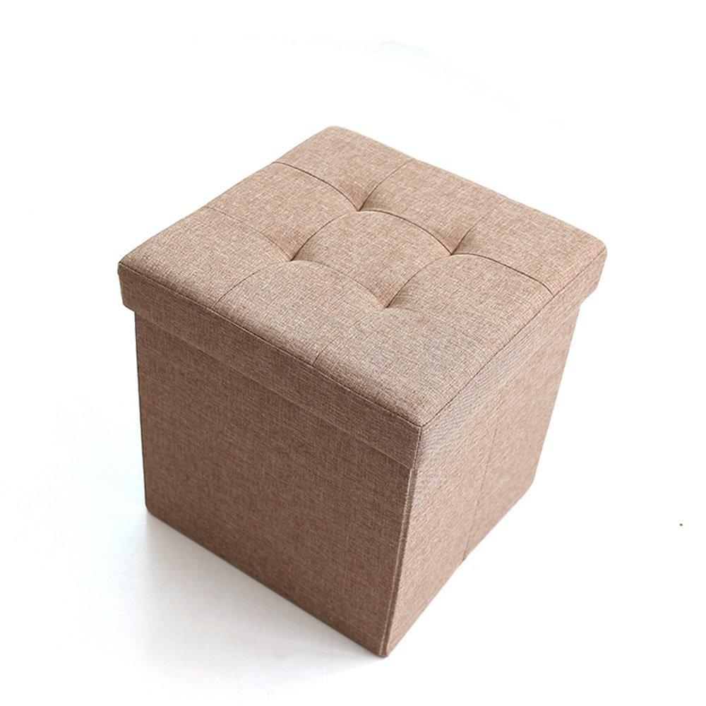 MOMO Multifunción para el Taburete del Zapato Que el sofá Puede sentar en la Caja de Almacenamiento Taburete del Taburete Cuadrado Plegable (38  38  38Cm) (2 Colores Opcionales) -Storage Stool,BB